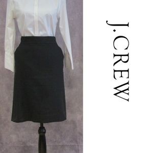 J. Crew The Pencil Skirt Black Size 14